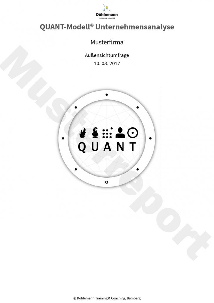 Zeigt das Deckblatt der QUANT-Modell® Unternehmensanalyse